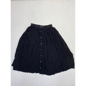 American Apparel Button Down Skirts Black Size S